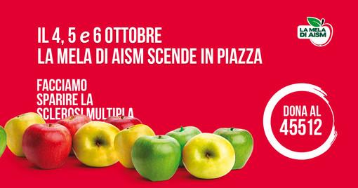"""""""La Mela di AISM"""" torna nelle piazze di tutta la Provincia di Savona per la lotta alla sclerosi multipla"""