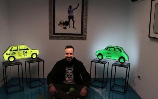 """Alassio, Capodanno artistico con la pop art di Roberto Lafornara in arte """"Lafoz"""""""