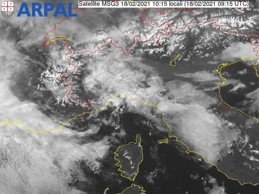 Meteo, ancora nubi in Liguria: previste piogge sparse