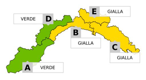 Meteo, piogge deboli in provincia di Savona: le previsioni di Arpal