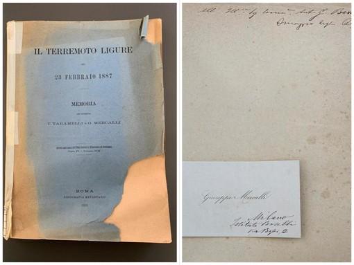 Carcare: dalla biblioteca spunta un libro di Giuseppe Mercalli, unico in Italia (FOTO)