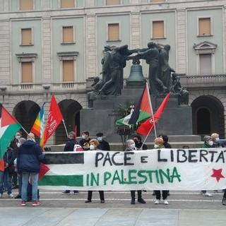 """""""Pace e Liberta in Palestina"""", in Piazza Mameli a Savona il presidio a favore dei palestinesi (FOTO)"""