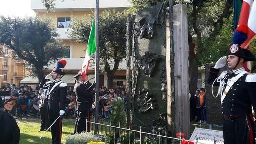 Il monumento a Finale Ligure intitolato a Daniele Ghione