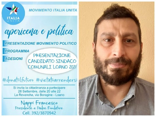 """""""Apericena e Politica"""" il 28 settembre il movimento Italia Unita si presenta al pubblico"""