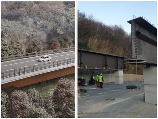 A6, completate le spalle del nuovo viadotto Madonna del Monte su cui poggerà l'impalcato in acciaio (FOTO)