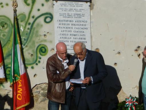 Foto della cerimonia dello scorso anno con Balduino Astengo e Giuseppe Milazzo