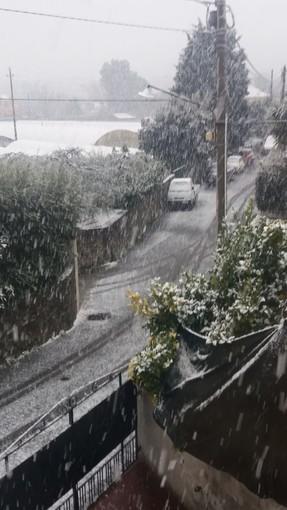 Scatta l'allerta meteo per neve. Iniziano a cadere i primi fiocchi nel savonese (VIDEO)