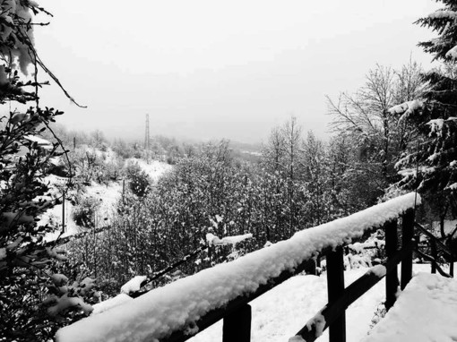 Maltempo, caduti 15 cm di neve sul monte Settepani e nel comune di Osiglia a 1375 metri di quota