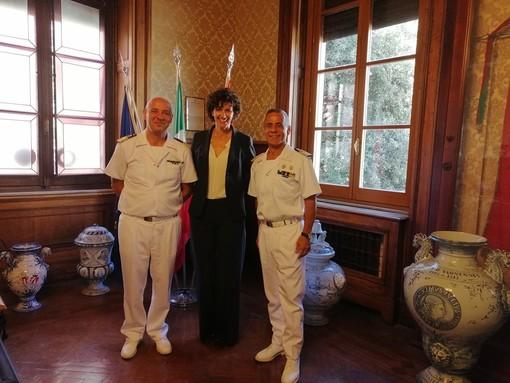 Savona, il nuovo Comandante della Capitaneria Francesco Cimmino in visita dal sindaco Caprioglio