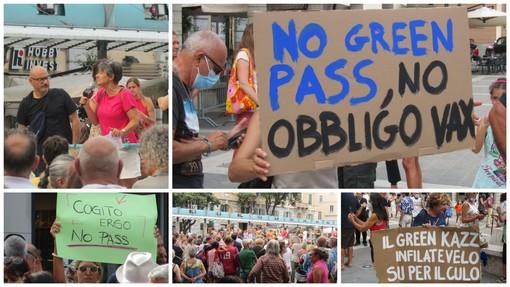 """Anche a Savona si scende in piazza contro l'obbligo di """"Green Pass"""" al grido di """"Libertà!"""" (FOTO e VIDEO)"""
