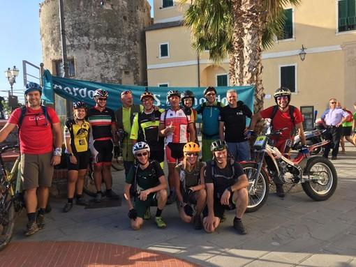 """Si è concluso il """"Tour delle Torri Saracene"""": questa """"pedalata enogastronomica"""" era partita da Laigueglia"""