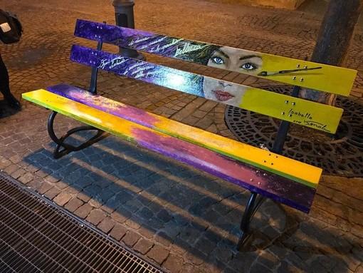 Panchina della donna inaugurata lo scorso 8 marzo