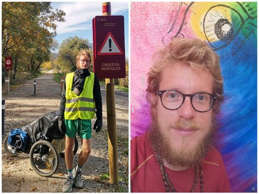 """""""PieRoad"""": Nicolò Guarrera ha concluso la prima parte del suo viaggio a piedi attorno al mondo"""