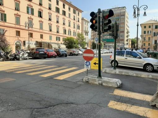 """Savona, ritorna alla normalità la viabilità su piazza Giulio II, vicesindaco Arecco: """"Riapertura a tempo record"""""""