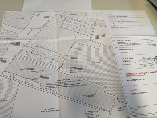 Albenga, restyling della piazza della chiesa a Lusignano: la giunta Tomatis approva il progetto definitivo