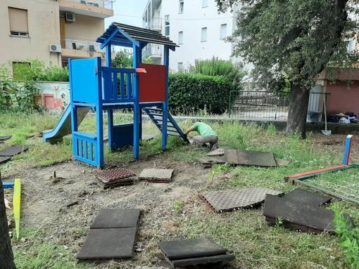 Albissola, partito il cantiere per la riqualificazione del parco Puccio (FOTO)