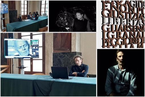 Savona, svelata l'opera in onore di Sandro Pertini: una stele con le sue frasi e 10 parole chiave