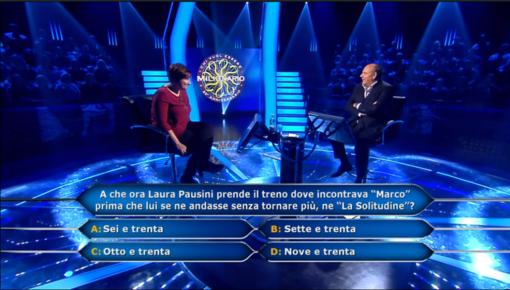 """La prof savonese Rossella Di Legami protagonista a """"Chi vuol essere milionario"""""""