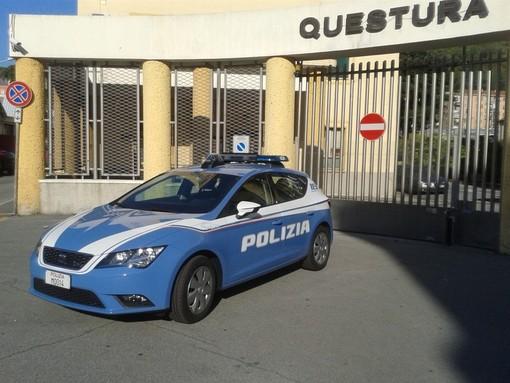 Savona, pattuglione della polizia di stato