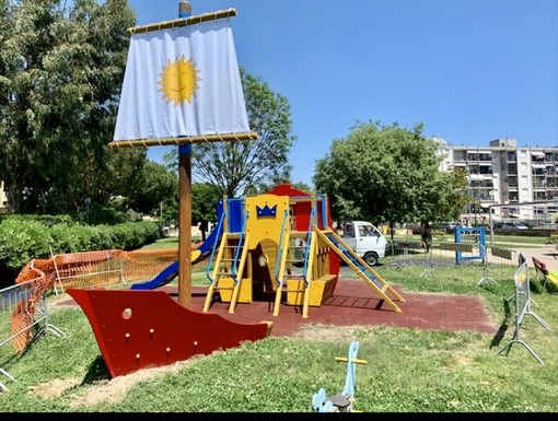 """Albenga, un nuovo gioco per il parco """"Peter Pan"""""""