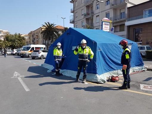 Gestione territoriale dell'emergenza Covid: Protezione Civile e Croce Rossa di supporto al personale di Asl2