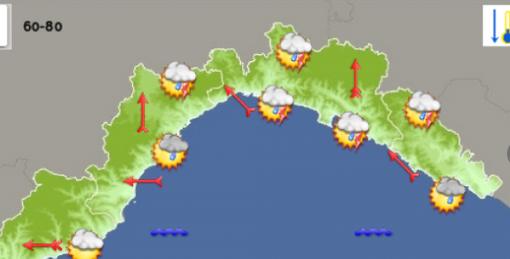 Meteo: sarà una domenica 20 settembre ricca di rovesci sul territorio savonese e genovese