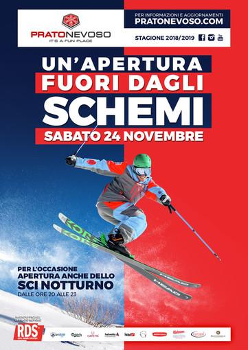 Prato Nevoso inaugura la stagione dello sci in Piemonte:da questo sabato impianti aperti tutti i giorni