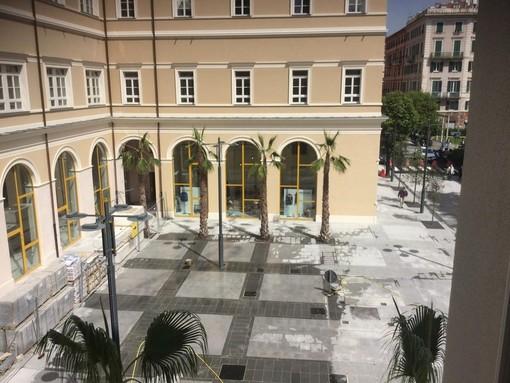 Savona, a dicembre il fine cantiere dell'ex San Paolo, piazza Pertini verrà inaugurata ufficialmente il 16