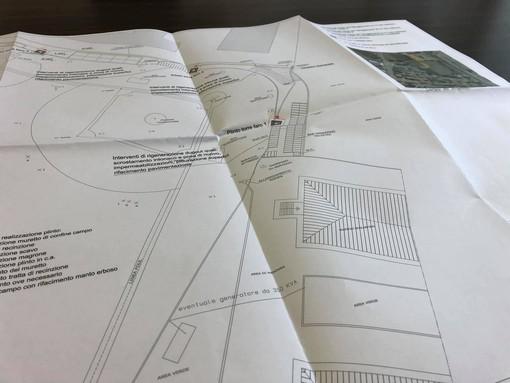 Nella foto: la planimetria del progetto