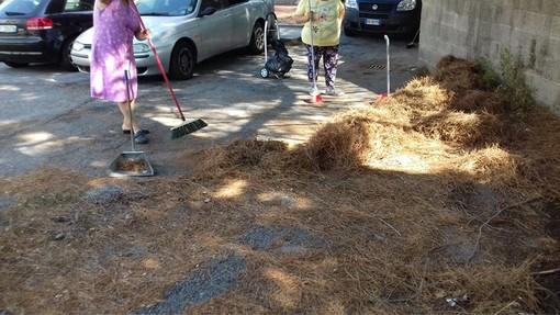Savona, dopo diverse segnalazioni al comune e a Arte i cittadini ripuliscono via Bresciana (FOTO)