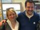 Cristina Porro con Matteo Salvini