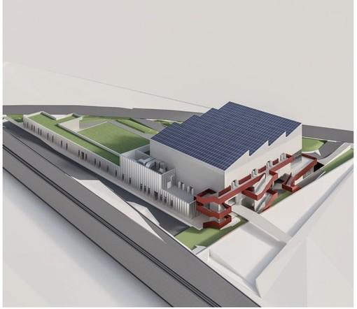 Nelle immagini i rendering del centro multidisciplinare di Vado