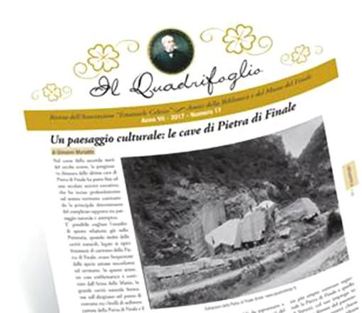 """In uscita il nuovo numero de """"Il Quadrifoglio"""", con la storia, la cultura e le tradizioni di Finale Ligure"""