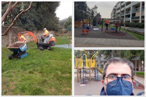 """Albissola, in fase di ultimazione il """"mini piano"""" dei lavori per il restyling di parchi e aree gioco"""