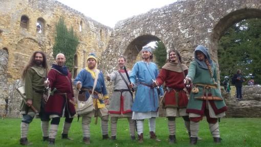 """Il gruppo storico """"La Medioevale"""" di Savona"""" alla rievocazione della battaglia di Hastings"""