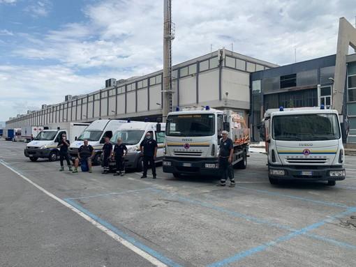 Savona, la protezione civile ha ritirato i Dpi assegnati dalla Regione per i comuni del savonese