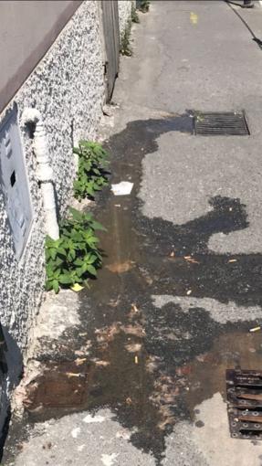 Foto: Le perdite negli scarichi fognari di largo Cadorna