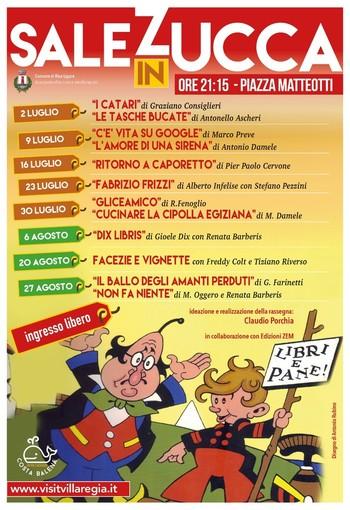 Al via a Riva Ligure la IV° edizione della rassegna letteraria 'Sale in Zucca'