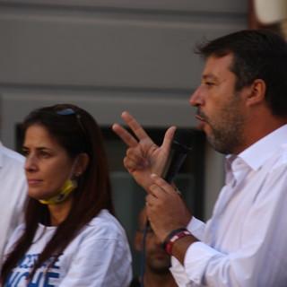 Elezioni 2021: il leader della Lega Matteo Salvini nel savonese venerdì 17 settembre