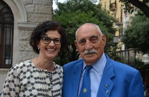 Nella foto, Roberto Bracco con il sindaco di Savona Ilaria Caprioglio