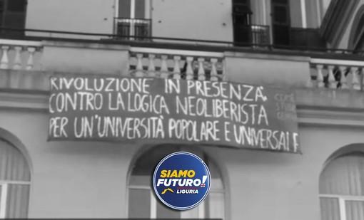 """Università, Siamo Futuro Liguria: """"Nostro obiettivo riaprire in sicurezza, senza azioni sovversive in stile '68"""""""