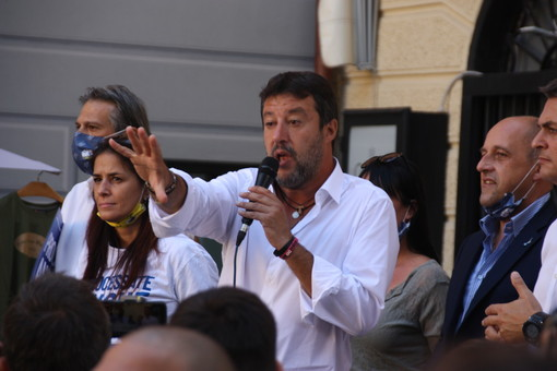 """Loano, Salvini sulla sanità in Liguria: """"Se qualcuno parla di poltrone prima del voto manca di rispetto ai liguri"""" (FOTO e VIDEO)"""