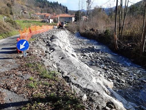 Calizzano, al via i lavori per la messa in sicurezza della strada di collegamento alla frazione di Vetria