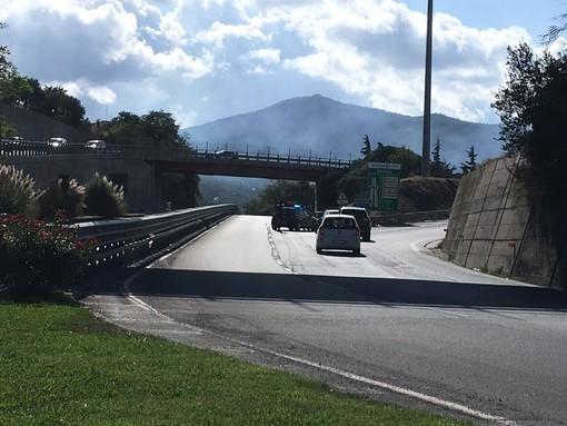 L'imbocco della superstrada dov'è posizionato l'autovelox