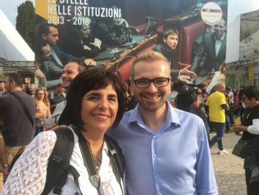 Albisola Superiore: il Sottosegretario alla Presidenza del Consiglio Simone Valente incontra la candidata sindaco Stefania Scarone