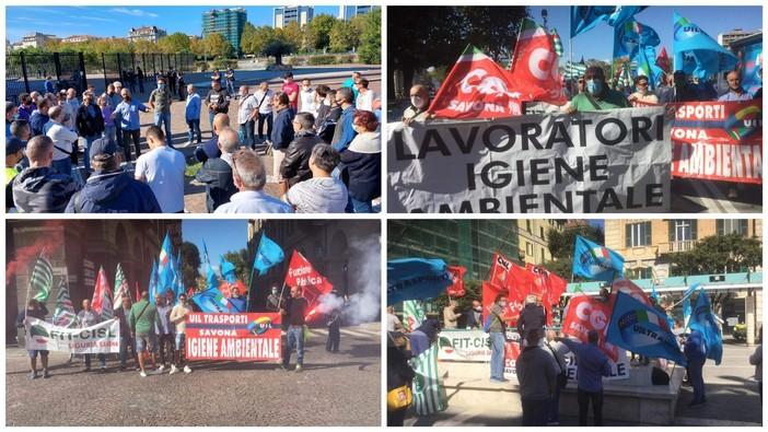 """Savona, sciopero lavoratori Ata dal Tribunale e in piazza Sisto. I sindacati: """"Vogliamo risposte al più presto"""" (FOTO e VIDEO)"""