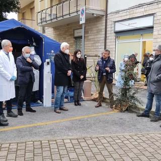 Inaugurata a Pietra Ligure la tensostruttura a supporto di Pietra Medica (FOTO e VIDEO)