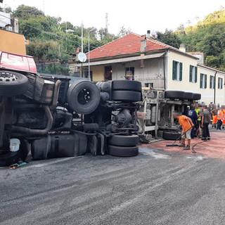Camion ribaltato lo scorso 7 luglio in località Maschio