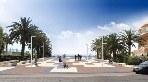 Il rendering del progetto della nuova terrazza a mare