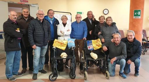 Albenga: due nuove carrozzine per gli ospiti dell'Istituto Domenico Trincheri